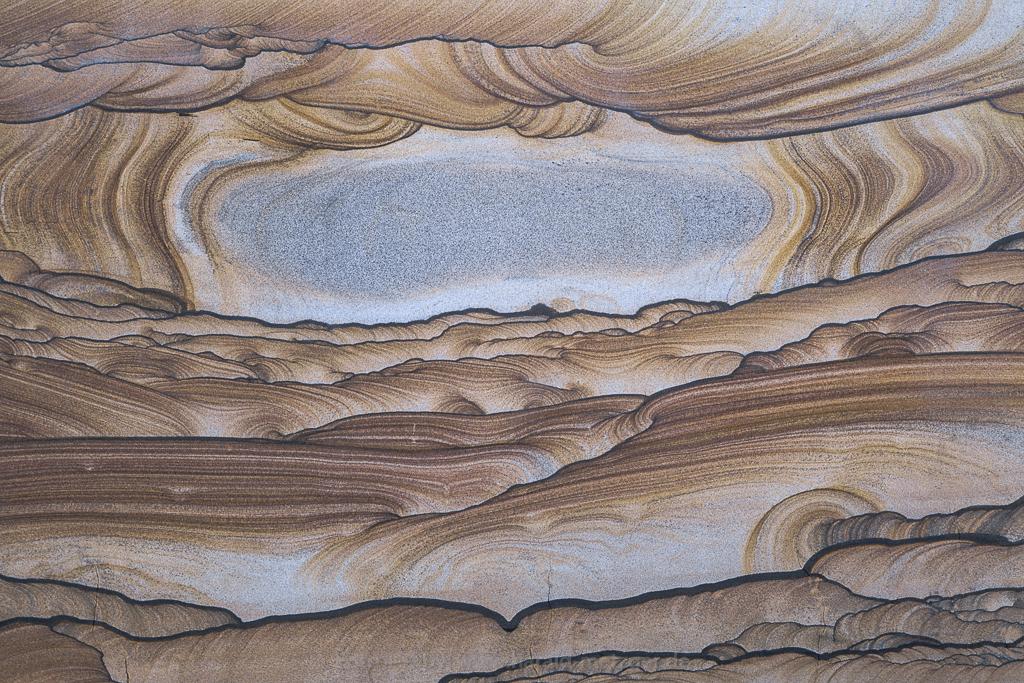 Kanab Wonderstone, Sandstein, versteinerte Sanddüne, Kanab, Utah, USA, Muster