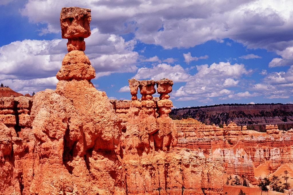 Bryce Canyon, Utha, USA, Canyon, Erosion, Felsen, Thors Hammer