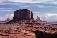 John Fort Point, Arizona, USA, Monument Valley, Felsen, Reiter, Sandstein, Indianermädchen