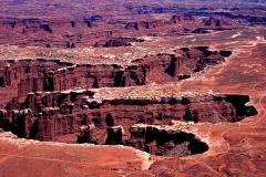 White Rim Trail, Utah, USA, Canyon, Canyonlands Nationalpark. Geländewagen-Piste