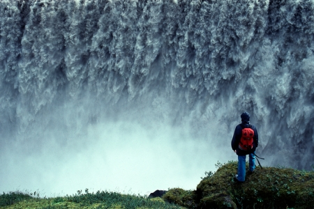 Dettifoss, Island, mŠchtigster Wasserfall Europas, 44m Fallhšhe, Gletscherwasser des Vatnajškull